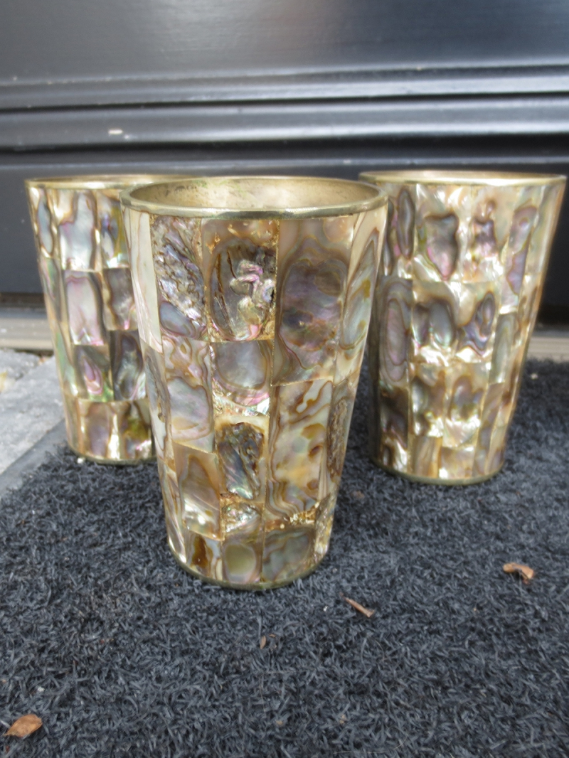 Parc Monceau Abalone Shell Pitcher With Six Glasses